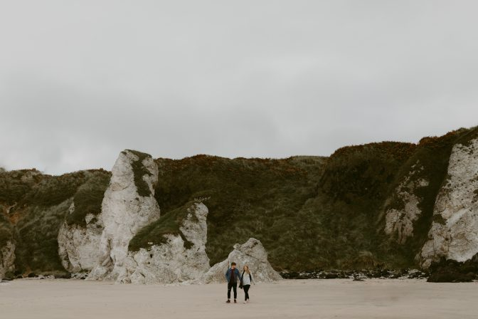 Whiterocks Beach Engagement Shoot